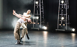 © London News Pictures. 09/05/2015. Dancer Connor Scott (with dance partner Meshmch Henry) winner of the first ever Grand Final of the BBC's Young Dancer competition, held in Sadler's Wells Theatre, London. Further information from Kate Davis - BBC Radio 3, Classical Music and Television: kate.davis03@bbc.co.uk / 07730 194018. Photo credit: Tony Nandi/London News Pictures
