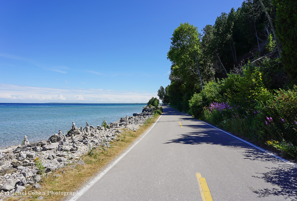 &quot;Around Mackinac Island&quot; <br /> <br /> Take bike, or walk around Mackinac Island! You'll enjoy the blue waters of Lake Huron, rocky beaches, and wonderful nature everywhere!