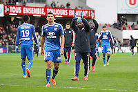 Joie LYON - 04.04.2015 - Guingamp / Lyon - 31eme journee de Ligue 1<br />