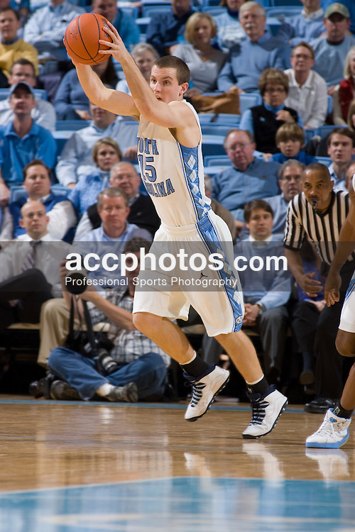 31 January 2008: North Carolina Tar Heels guard J.B. Tanner (15) during a 69-91 win over the Boston College Eagles at the Dean Smith Center in Chapel Hill, NC.