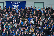 Brighton & Hove Albion FC supporters during the Premier League match between Brighton and Hove Albion and Aston Villa at the American Express Community Stadium, Brighton and Hove, England on 18 January 2020.