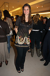 JESSICA LEE at the launch of Roberto Cavalli Vodka held in the International Designer Room, Harrods, Hans Crescent, London on 5th December 2006.<br />