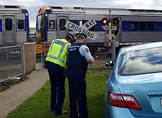 Auckland-Lucky escape in car v train, Takanini