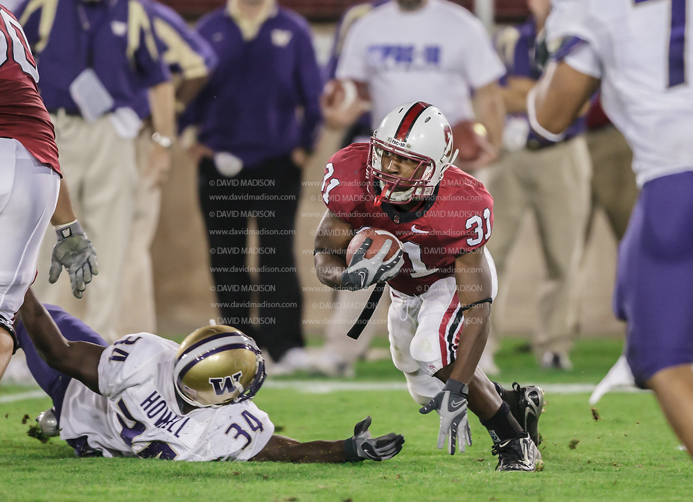 FOOTBALL, College<br /> Stanford vs Univ of Washington<br /> Stanford Stadium<br /> Palo Alto, CA <br /> Nov 3, 2007  Tyrone McGraw #31