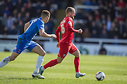 Lewis Alessandra of York City FC (26) during  the Sky Bet League 2 match between Hartlepool United and York City at Victoria Park, Hartlepool, England on 16 April 2016. Photo by George Ledger.
