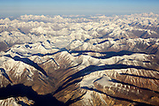 Aerial view of The Great Himalayan Range in Ladakh