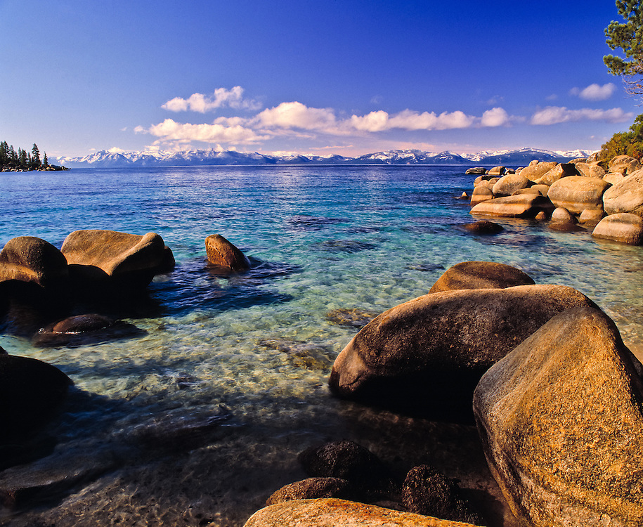 Lake Tahoe Scenic Clear Water Shoreline