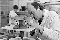 Potter making English creamware at  Leeds Pottery.