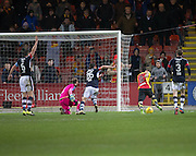 Partick Thistle's Kris Doolan doubles his side's lead - Partick Thistle v Dundee in the Ladbrokes Scottish Premiership at Firhill, Glasgow - Photo: David Young, <br /> <br />  - &copy; David Young - www.davidyoungphoto.co.uk - email: davidyoungphoto@gmail.com