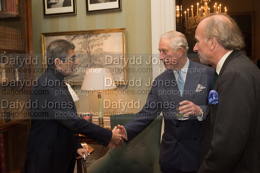 SONNY MEHTA; THE PRINCE OF WALES; DAVID CAMPBELL, Everyman 25th Anniversary party, Spencer House. St. James' Place. London. SW1. 26 October 2016