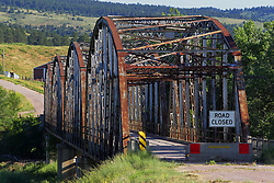 Steel girder bridge over Cheyenne River on SD79F.