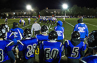 Homecoming football game with the Winnisquam Bears and Franklin Tornadoes under the lights Friday evening.  (Karen Bobotas/for the Laconia Daily Sun)