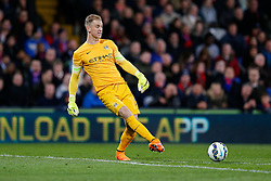 Joe Hart of Manchester City clears - Photo mandatory by-line: Rogan Thomson/JMP - 07966 386802 - 06/04/2015 - SPORT - FOOTBALL - London, England - Selhurst Park - Crystal Palace v Manchester City - Barclays Premier League.