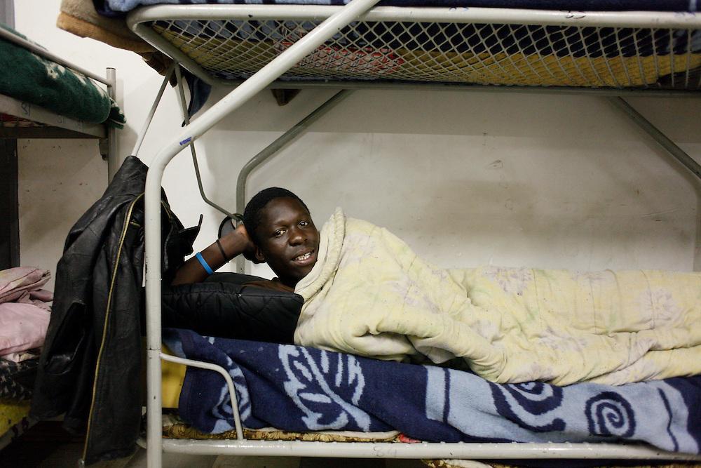 Scenes from overnight shelter. .MES program. Hillbrow, Johannesburg.  .© Zute Lightfoot.www.lightfootphoto.com..