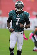 Philadelphia Eagles quarterback Michael Vick (7) during the Eagles 31-20 win over the Tampa Bay Buccaneers on Oct. 13, 2013 in Tampa, Florida. <br /> <br /> ©2013 Scott A. Miller