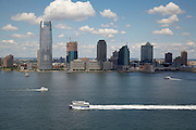 View of the Hudson River and Jersey City from 377 Rector Place, 21st floor, Battery Park City