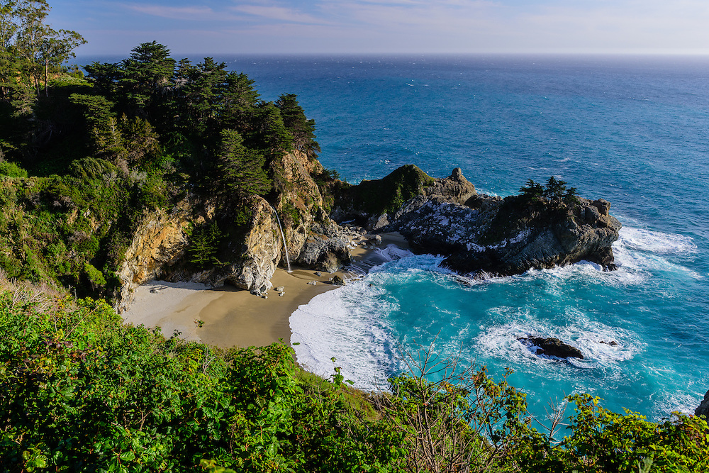 McWay Cove with McWay Falls, Julia Pfeiffer Burns State Park,  Big Sur, California