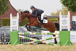 De Proft Anouk (BEL) - Natan Dan Den Meulenkouter<br /> SBB Competitie Jonge Pony's<br /> Nationale Wedstrijd Zonnebeke 2013<br /> © Dirk Caremans
