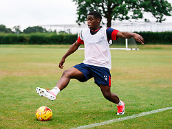 Kel Akpobire in action as Bristol City Under 23s return for a second day of training ahead of their 2017/18 Season - Rogan/JMP - 01/07/2017 - Failand Training Ground - Bristol, England.