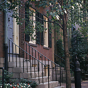 Beacon Hill; Brownstone Doorways; Boston, MA