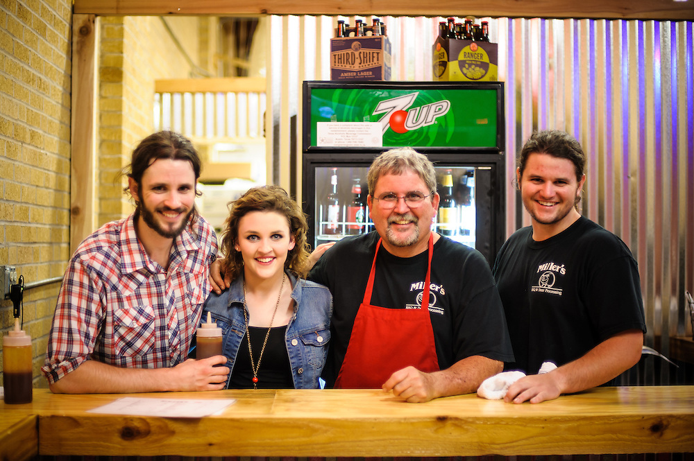 Dirk Miller, Pit Master & owner of Miller's BBQ in Belton Texas with his Children