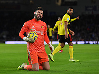 Football - 2019 / 2020 Premier League - Brighton & Hove Albion vs. Watford<br /> <br /> Watford's Ben Foster smiles at the fans, at the Amex Stadium.<br /> <br /> COLORSPORT/ASHLEY WESTERN
