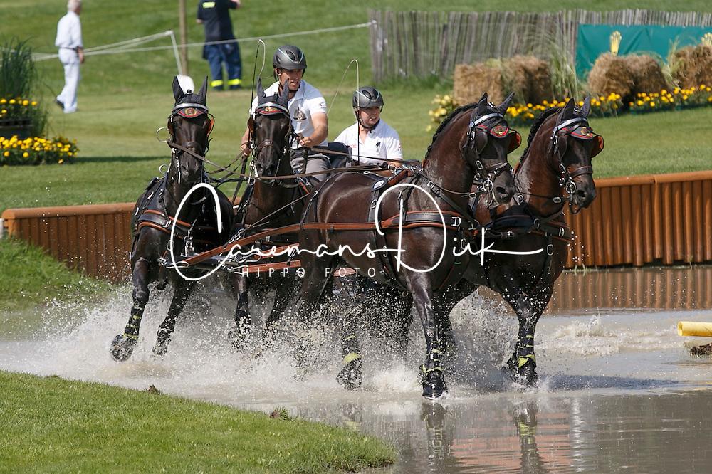 Simonet Edouard, (BEL), Dark Dream, El Fiero v Vemmekeshoeve d'07, Maximus, Topspeed Bauke<br /> Marathon Driving Competition<br /> FEI European Championships - Aachen 2015<br /> &copy; Hippo Foto - Dirk Caremans<br /> 22/08/15