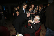 Maximilian Schell AND  Robert Altman. The party for 'Resurrection Blues' following the opening at the Old Vic. The Riverbank Park Plaza Hotel, London.3 March 2006. ONE TIME USE ONLY - DO NOT ARCHIVE  © Copyright Photograph by Dafydd Jones 66 Stockwell Park Rd. London SW9 0DA Tel 020 7733 0108 www.dafjones.com
