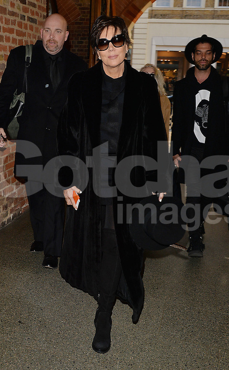Kris Jenner at the Eurostar St Pancras in London, UK. 23/01/2015<br />BYLINE MUST READ : GOTCHAIMAGES.COM<br /><br />Copyright by &copy; Gotcha Images Ltd. All rights reserved.<br />Usage of this image is conditional upon the acceptance <br />of Gotcha Images Ltd, terms and conditions available at<br />www.gotchaimages.com