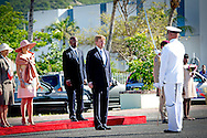 13-11-2013 SINT MAARTEN -  The arrival of the Dutch King Willem Alexander en Queen Maxima at Sint Maarten . They will visit all the 6 Dutch Islands the next 10 days . The royal couple will visit the Caribbean . COPYRIGHT ROBIN UTRECHT