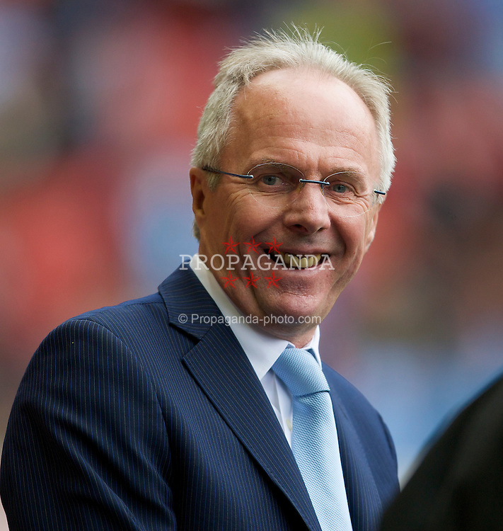 LIVERPOOL, ENGLAND - Sunday, May 4, 2008: Under pressure Manchester City manager Sven Goran-Eriksson during the Premiership match against Liverpool at Anfield. (Photo by David Rawcliffe/Propaganda)
