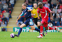 Photo: Leigh Quinnell.<br /> Leyton Orient v Swansea City. Coca Cola League 1. 06/10/2007. Swanseas Warren Feeney, breaks away from Orients Alton Thelwell.