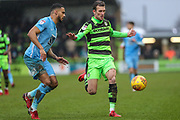 Forest Green Rovers Christian Doidge(9) during the EFL Sky Bet League 2 match between Forest Green Rovers and Coventry City at the New Lawn, Forest Green, United Kingdom on 3 February 2018. Picture by Shane Healey.