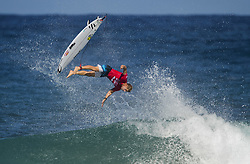 December 16, 2017 - Banzai Pipeline, Hawaii, U.S. - MICK FANNING of Australia falls on an incomplete aerial during his heat in the Billabong Pipe Masters Saturday. (Credit Image: © Erich Schlegel via ZUMA Wire)