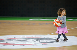 Daughter of Robert Rothbart of Union Olimpija after the basketball match between KK Union Olimpija and Montepaschi Siena (ITA) of 7th Round in Group D of Regular season of Euroleague 2011/2012 on December 1, 2011, in Arena Stozice, Ljubljana, Slovenia. Sena defeated Union Olimpija 63-57. (Photo by Vid Ponikvar / Sportida)