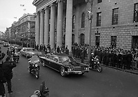 American President Richard Nixon's Motor Cavalcade passing the GPO on O'Connells Street in Dublin, circa October 1970 (Part of the Independent Newspapers Ireland/NLI Collection).