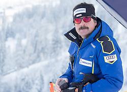 17.01.2017, Hahnenkamm, Kitzbühel, AUT, FIS Weltcup Ski Alpin, Kitzbuehel, Abfahrt, Herren, Streckenbesichtigung, im Bild Swissski Trainer Thomas Stauffer // Swiss Ski Coach Thomas Stauffer during the course inspection for the men's downhill of FIS Ski Alpine World Cup at the Hahnenkamm in Kitzbühel, Austria on 2017/01/17. EXPA Pictures © 2017, PhotoCredit: EXPA/ Johann Groder