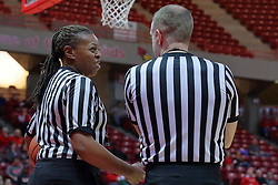 01 January 2017: LaSha Hopson & Brad Maxey during an NCAA Missouri Valley Conference Women's Basketball game between Illinois State University Redbirds the Braves of Bradley at Redbird Arena in Normal Illinois.