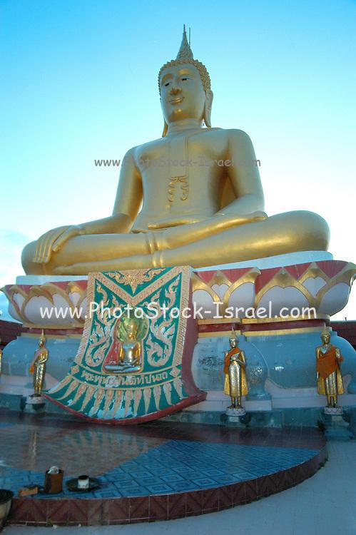 close up of Big buddha at ko samui island Thailand