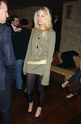 The HON.SOPHIA HESKETH at a party hosted by Daniella Helayel of fashion label ISSA held at Taman Gang, 141 Park Lane, London on 15th February 2006.<br />