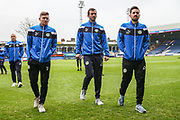 Forest Green Rovers Dayle Grubb(8), Forest Green Rovers Gavin Gunning(16) and Forest Green Rovers Chris Clements(22) pre match walkabout during the EFL Sky Bet League 2 match between Luton Town and Forest Green Rovers at Kenilworth Road, Luton, England on 28 April 2018. Picture by Shane Healey.