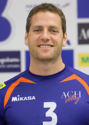 Daniel Lewis at press conference of volleyball club ACH Volley before new season 2010/2011, on November 5, 2010, in Ljubljana, Slovenia. (Photo by Vid Ponikvar / Sportida)