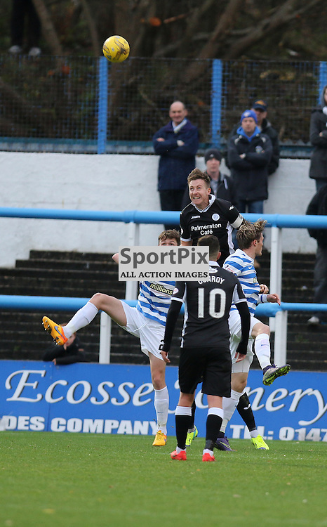 Queens defend well during the Morton v Queen of the South Scottish Championship 14  November 2015 <br /> <br /> (c) Andy Scott | SportPix.org.uk