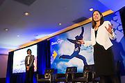 DocuSign hosts its Momentum 2016 summit at Union Square in San Francisco, California, on April 5, 2016. (Stan Olszewski/SOSKIphoto)