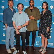 William Oldroyd,Mike Plante,Shola Amoo and Lauren Dark arrivers at Sundance London: Short To Features: A Two-Way Street - photocall at Picturehouse Central, on 1st June 2019, London, UK.