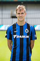 Club's Bjorn Engels poses for the photographer during the 2015-2016 season photo shoot of Belgian first league soccer team Club Brugge, Friday 17 July 2015 in Brugge