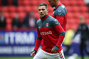 Charlton Athletic midfielder Jake Forster-Caskey (19) warming up prior to the EFL Sky Bet League 1 match between Charlton Athletic and Blackburn Rovers at The Valley, London, England on 28 April 2018. Picture by Toyin Oshodi.