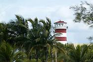 A lighthouse in Freeport, Bahamas.