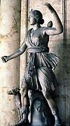 Artemis/Diana, Greek/Roman moon goddess,  and goddess of hunting, woodlands and fertility.