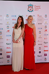 LIVERPOOL, ENGLAND - Tuesday, May 9, 2017: xxxx and xxxx arrive on the red carpet for the Liverpool FC Players' Awards 2017 at Anfield. (Pic by David Rawcliffe/Propaganda)